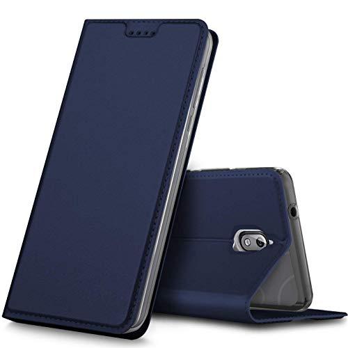 Verco Handyhülle für Nokia 3.1, Premium Handy Flip Cover für Nokia 3.1 Hülle [integr. Magnet] Book Hülle PU Leder Tasche [Nokia 3 2018], Blau