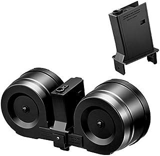 【東京マルイ(TOKYO MARUI)】ツインドラムマガジン(1200連)+M4/HK416/SCAR-Lシリーズ(次世代)用変換アダプターセット