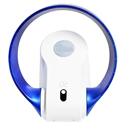 NANXCYR Ventilator zonder ventilator ventilator zonder bladeren energiebesparende ventilator plafondventilator vloerventilator desktop afstandsbediening blauw wit