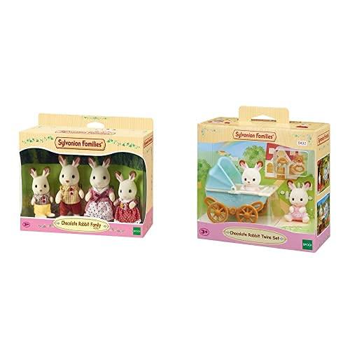 SYLVANIAN FAMILIES - 4150 - Familia Conejo Chocolate+-5432 Mini Muñecas Y Accesorios, Multicolor (Epoch 5432)