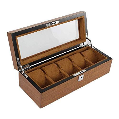 GFF Caja de joyería de Caja de Reloj de Madera Vintage y...