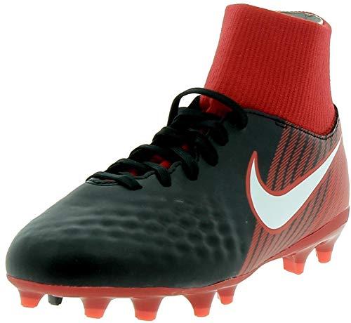 Nike Unisex-Kinder JR Magista ONDA II DF FG Fußballschuhe, Schwarz (Schwarz/Weiß-Universität Rot 061), 35.5 EU