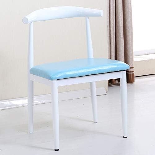 Freizeitstuhl,DASENLIN Stuhl, einzelne Holz-Horn-Stuhl, Low-Carbon- -Restaurant Stuhl, einfache Casual Sessel, Gesamth  75cm  Breite 47cm, antike PU Plaid