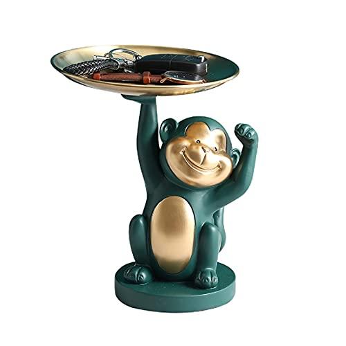 AHAI YU Cœur décoratif pour clé d'entrée - Plateau décoratif fonctionnel et à collectionner - Pour femme - Plateau d'entrée Sungybies (Couleur : Monkey)