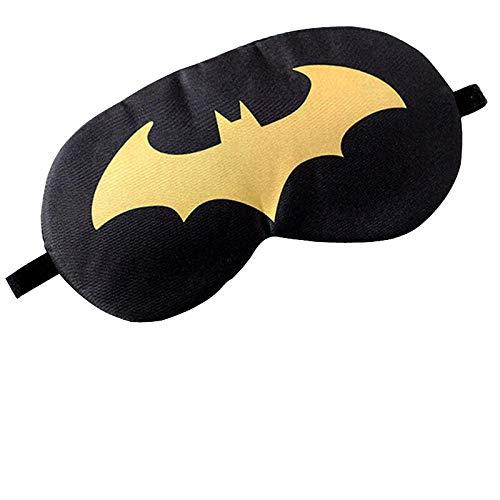 Winter Schlaf Augenbinde Polyester Schattierung Atmungsaktiv Männer Cartoon Tragbar Flugzeug Reise, Gelber Batman