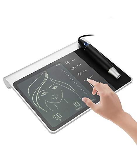 Digital Machine de Tatouage, Machine à Tatouer Numérique Microblading Avec Stylo Tattoo Machine pour Maquillage Semi-permanent, Panneau à écran Tactile, Sourcils/Eyeliner/Lèvres/MTS