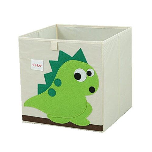 QIANHEHUIKE Oxford Textile Boîte de rangement pliable pour jouets et organiseur de placard Motif dinosaure
