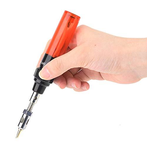 Soldador de gas portátil fácil de mantener con forma de bolígrafo, para soldadura de reparación de placa de circuito de alambre