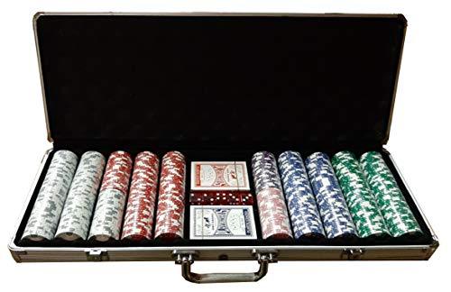 Set Poker Valigetta Completo 500 Fiches 11,5 Grammi Texas Hold Em Clay.