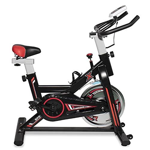 Bicicleta de Spinning Bicicleta de Fitness Bicicletas de Ciclo Indoor con Resistencia Ajustable y Monitor LCD para Ejercicio en el Hogar