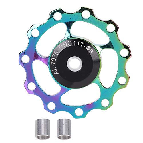 RiToEasysports Bike Rear Derailleur Pulley Aluminium Alloy 11T/13T Sealed Bearing Wheel Bike Guide Roller Pulley(colorful-11T)
