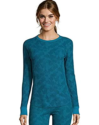 Hanes Women's Waffle Knit Thermal Crewneck??Ships directly from Hanes????Ships directly from Hanes????Ships directly from Hanes?? from Hanes