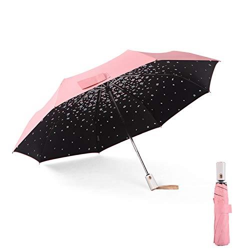 Meiyijia Ombrello Portatile Pieghevole Antivento di alta qualità, ombrello da viaggio anti vento, Ombrello Ultraleggero,Apertura e chiusura automatica,UV Resistenza