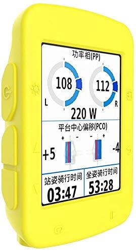 Funda compatible con Garmin Edge 520 Plus – Funda protectora de silicona – Accesorios de ordenador para bicicleta GPS (amarillo)