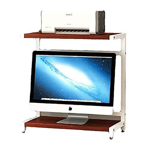 Stojaki na biurko do drukarki 2-poziomowy blat drewniany stojak na monitor stojak do drukarki do przechowywania biurko stojak do przechowywania PC stojak do przechowywania do domu i biura biurka podstawowego stojak do przechowywania (kolor: B)
