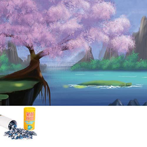 TOYANDONA 1000 Stks Educatieve Puzzel Landschapsschilderkunst Kleurrijke Draagbare Delicate Schilderij Puzzel Papier Puzzel Voor Thuiskantoor