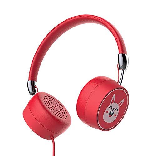 TENLUBEN Gorsun 771 Kids Headphones Volume Limited On-Ear Wired Children Foldable Adjustable Headset for Boys Girls Teens School Toddler (Red)