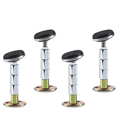 Tope de cabecero ajustable, puedes cambiar el tamaño de la herramienta antisacudidas de acuerdo con los tornillos. 3,1 pulgadas en altura. Ajusta la fuerza de los tornillos para aumentar la longitud a 10 cm. La base de la cama se puede girar 360 grad...