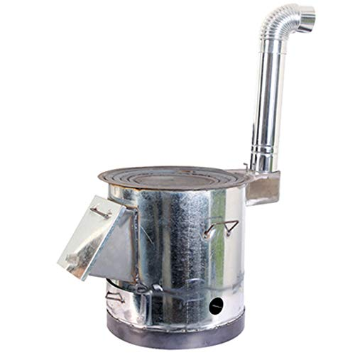 GYJ Holzofen, Edelstahl, leicht, für Koch, tragbare Mini-Gasherd-Heizung, Outdoor-Camping, Winddicht, geeignet für Winterangeln