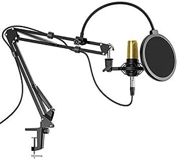 AMADA Mic Arm Suspension Scissor Microphone Arm Stand