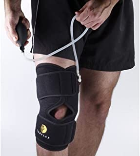 Corflex Cryo Pneumatic Inflatable Knee Brace with Cold Therapy-1 Gel - Black