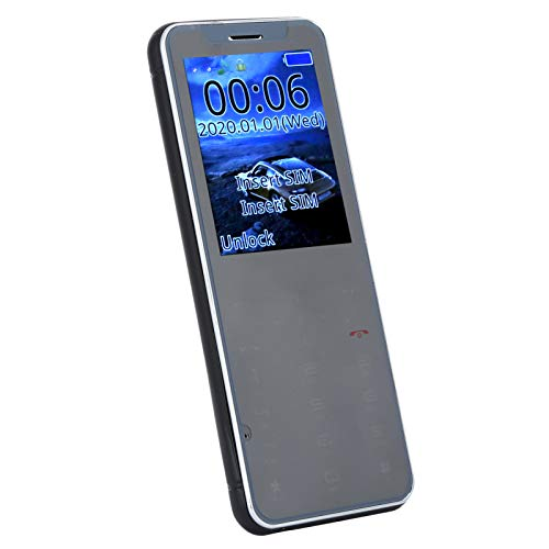 Teléfono inteligente 3G de 2,5 pulgadas, teléfono móvil con pantalla IPS, teléfono de doble SIM con doble modo de espera, Mini teléfono móvil, WIFI, Bluetooth, Quad Core, para Android 6.0(negro)