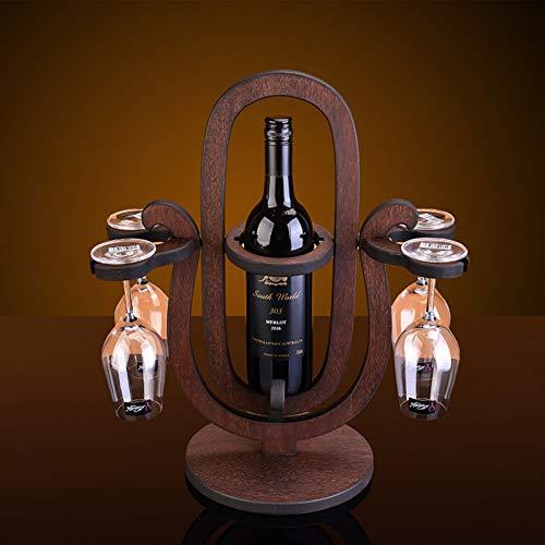 TZSHUQ Creatieve Roterende Zandloper Stijl Hout Wijnrek Europese Mode Bar Wijnrek Wijnglas Houder