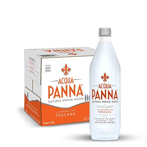 Acqua Panna Natural Spring Water, 33.8 Oz Plastic Bottles (12 Pack), 33.8 Fl Oz (12 Count)