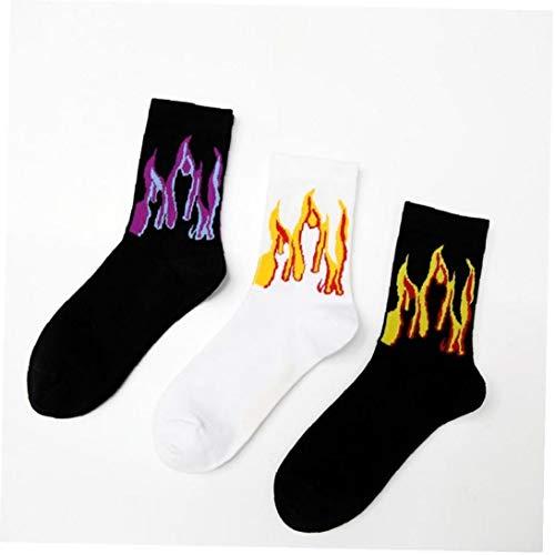3pair Mujer Llama Patrón Hombre De Hip Hop Divertido Calcetines Jacquard Calcetines Calle Fuego del Monopatín De Algodón Calcetines De Los Hombres Streetwear Calcetines De Algodón