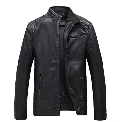 Chaqueta de cuero estilo retro con cremallera Biker chaqueta para hombre moto chaqueta casual cargo militar cazadora chaqueta cortavientos