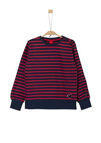 s.Oliver Mädchen 66.909.41.2438 Sweatshirt, Blau (Dark Blue Stripes 59g5), 140 (Herstellergröße: S/REG)