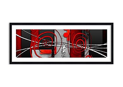 Imagen en un Marco de Madera de Color Negro - Imagen en un Marco - Cuadro sobre Lienzo - Impresión en Lienzo - 100x40cm - Foto número 0599 - Listo para Colgar - en un Marco - F1BAB100x40-0599