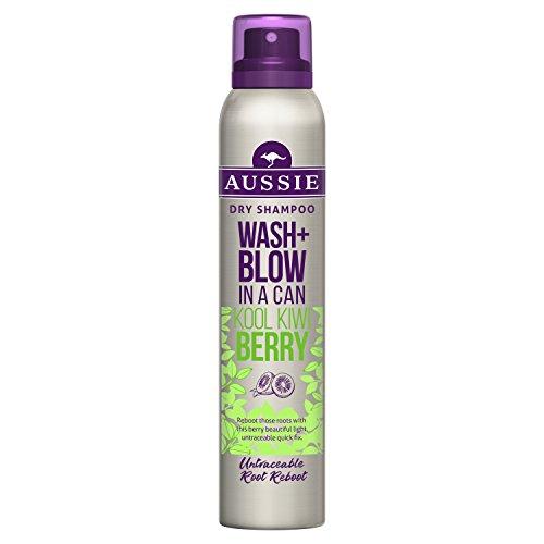 Aussie Wash + Blow Kool Kiwi Berry Trockenshampoo, 180ml