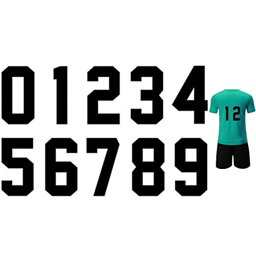 8 Inch Iron Heat Transfer Number 0 to 9 for Sports T-Shirt Jersey Football Baseball,Team t-Shirt (Black Color 0-9)
