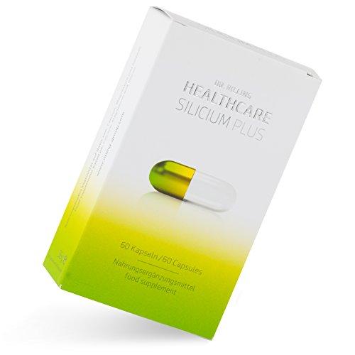 Silicium Kapseln I Silizium Hochdosiert Nahrungsergänzung I 60 Kapseln I Aluminiumfreie Nahrungs Ergänzung mit organischem Calcium & Magnesium I Dr. Rilling Healthcare Silicium Plus
