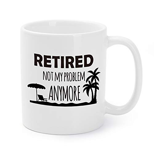 Mugaholics Mother's Day Gift Mugs Retirement Presents for Men/Women/Coworkers Retired Not My...
