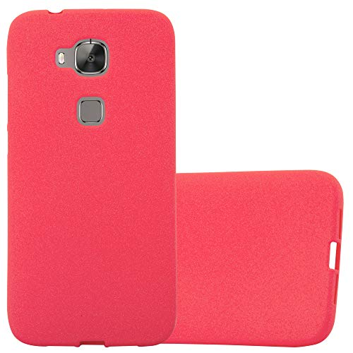 Cadorabo Hülle für Huawei G7 Plus / G8 / GX8 in Frost ROT - Handyhülle aus flexiblem TPU Silikon - Silikonhülle Schutzhülle Ultra Slim Soft Back Cover Hülle Bumper
