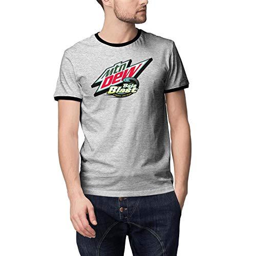 Mountain-Dew-Baja-Blast- Men's Short Sleeve Grey T Shirt 100 Cotton