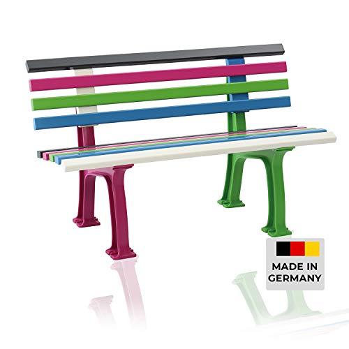 Blome Sitzbank Ibiza – Gartenbank bunt, Kinderbank für Garten, Balkon, Terrasse, 2-Sitzer, Made in Germany