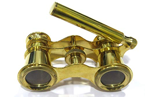 Brass Opera Binocular with Handle - Theater Glasses Gift for Adults Women Kids by NauticalMart