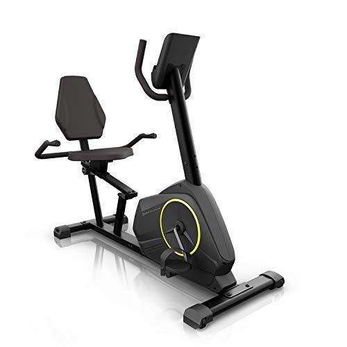 KLAR FIT Epsylon Relax Cycle - Cyclette , Trasmissione a Cinghia con Sistema SilentBelt , Volano da 12 kg , Resistenza HiLevel a 24 Livelli , Funzione MagResist , Supporto Tablet , Testato TÜV , Nero