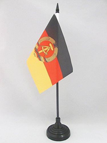 AZ FLAG TISCHFLAGGE DEUTSCHE DEMOKRATISCHE Republik 15x10cm - DDR TISCHFAHNE 10 x 15 cm - flaggen