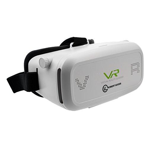 """Kobert-Goods - VR Park Virtual Reality Brille 3D Einstellbar Game Spiel Brille Karton Video Movie virtuelle Realität für 3.5""""-5,7"""" Smartphone Android IOS iPhone Samsung"""