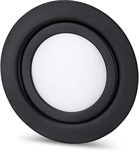 LED Slim meubels inbouwspots volledig metaal IP44 12V MINI-AMP - 4W 350lm - passend in inbouwdoos Ø 60mm - mat zwart - daglicht (4000 K)