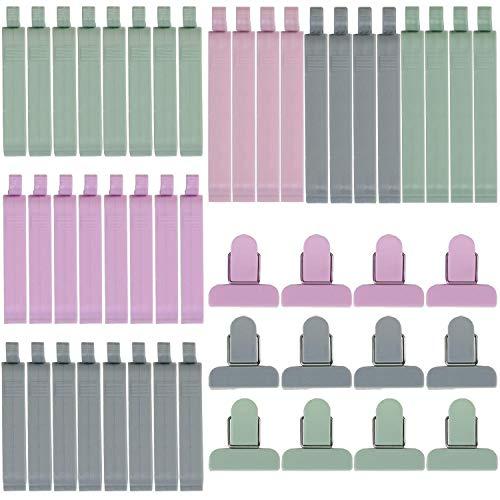 KARAA 48 Pcs Verschlussclips Dichtungsclips Klammern für Beutel Tüten Verschlussklammern Lebensmittel Food Clips Snacks Lagerung 3 Größen