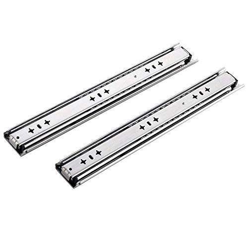 KINGO Pair of 36 Inch Soft Close Ball Bearing 250 LB Capacity Heavy Duty Drawer Slides, Full Extension Cabinet Drawer Slides