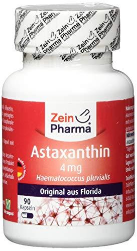 ZeinPharma Astaxanthin 4 mg 90 Kapseln (3 Monate Vorrat) Glutenfrei, vegan, koscher & halal Hergestellt in Deutschland, 36 g
