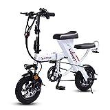 Léger Pliage Porable Vélo électrique,Mini Petit Adulte E-Bike,3 Modes D'équitation avec Masseur...
