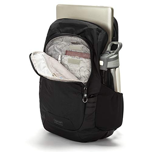 Pacsafe Luggage Travel Backpack Black, 15 Liter Venturesafe 15L GII Anti-Theft Daypack, Color (60280100)