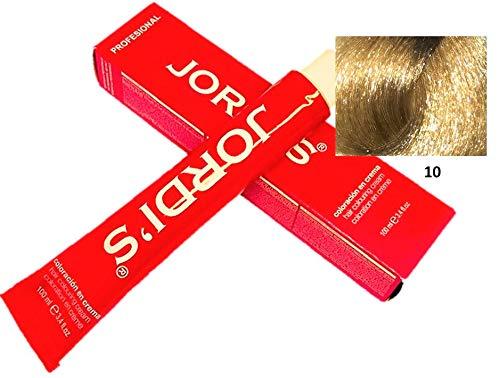 Coloration professionnelle couleur intense et lumineuse - 10- BLOND SUPER CLAIR NATUREL - Coloration crème 100ml.